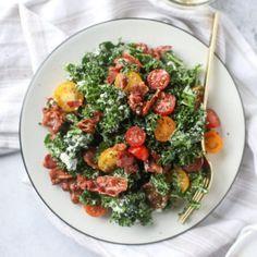 kale BLT salad I howsweeteats.com-8