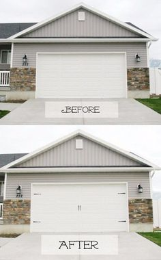 Or class it up with DIY carriage house doors. | 39 Budget Curb Appeal Ideas That Will Totally Change Your Home