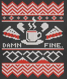 Each X as a granny square. 8 bit Twin Peaks