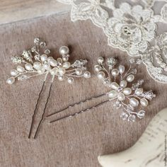 Свадебные шпильки для прически - белый, шпильки, шпильки для волос, шпильки в прическу, шпильки из жемчуга