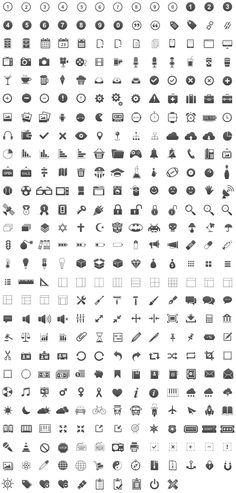 набор иконок для оформления веб