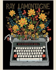 Ray LaMontagne poster for Luther Burbank Center for the Arts in Santa Rosa, CA on September 7, 2016. Designed by Methane Studios.