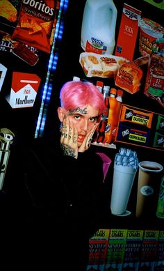 i liked the amount of color in this photo. especially the pink hair. - All For Hair Color Trending Aesthetic Iphone Wallpaper, Aesthetic Wallpapers, Lil Peep Beamerboy, Lil Peep Hellboy, Goth Boy, Trap, Peeps, Crybaby, Wall Collage