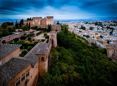 Panorámica de Comares y Alcazaba desde Torre de la Vela