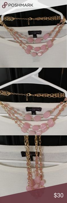 Pink necklace Lovely spring and summer pink necklace The Limited Jewelry Necklaces