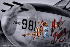 P-38 Lightning nose art at the 2012 Planes of Fame Air Show.