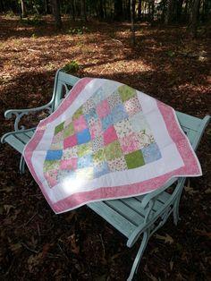SALE  Baby Girl Quilt  Sakura Park  Cherry by KaydeesQuilts, $68.00
