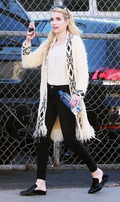 Love this weekend look on Emma Roberts.... - Celebrity Street Style