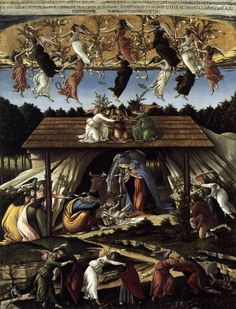 The Mystical Nativity by BOTTICELLI, Sandro #art