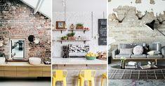 Een bakstenen muur in huis zal meestalbezet worden omdaarna af te werken meteen laag verf of behangpapier. Niks mis mee natuurlijk. Maar onbewerkt kan natuurlijk ook.  Hetzorgt vooreen volledig anderinterieur: een stoere, industriële look. Oudere woningen hebben vaak nog bakstenen mur