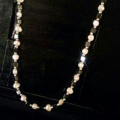 Fresh water pearls & Hematite Necklace
