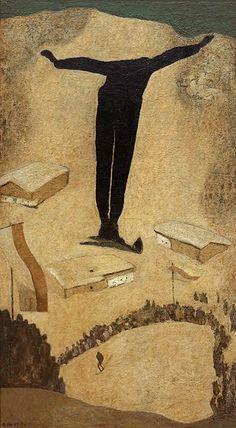 "vintageski: "" The Swallow ""Die Schwalbe"", painted by Alfons Walde in Oil on tempera, 70 x 40 inches. Vintage Ski, Vintage Travel Posters, Austria, Degenerate Art, Kunst Online, Ski Posters, Ski Jumping, Retro Illustration, Illustrations"