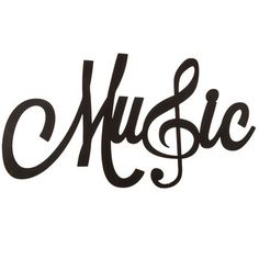 Music Word Wall Decor with Treble Clef