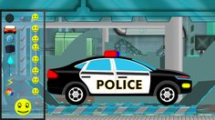 Let's visit to our Car Garage and learn how to modify a old car into a new.  #cargarage #policecar #learning #kidslearning #kids #educational #vehicles #parenting
