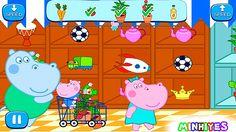 Hippo Pepa. Game about hippos. Playing the game Hippo Pepa