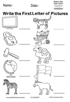 Kindergarten - Global Kids Indian School Nursery Worksheets, English Worksheets For Kindergarten, Hindi Worksheets, English Worksheets For Kids, Kindergarten Math Worksheets, Phonics Worksheets, Preschool Learning Activities, Lkg Worksheets, Math Literacy
