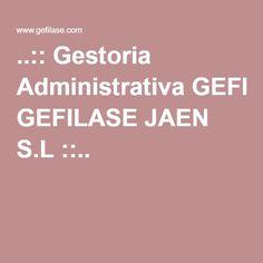 ..:: Gestoria Administrativa GEFILASE JAEN S.L ::..