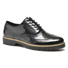 Klassische schwarze Schnürschuhe für Damen.