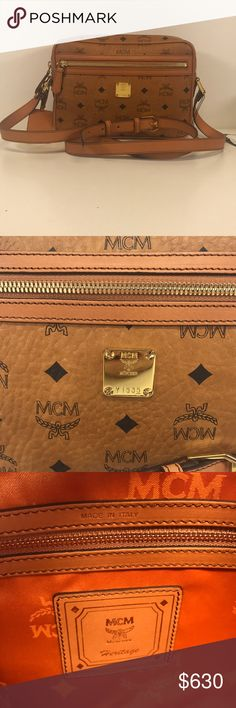 2035 New MCM Heritage Line Medium Cognac Crossbody 2035 New MCM Heritage Line Medium Cognac Crossbody  Does not come with dust bag.  100% guaranteed authentic. MCM Bags Crossbody Bags