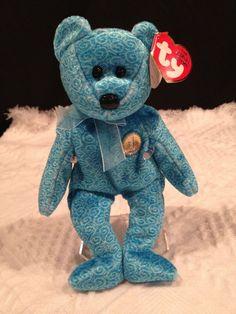 Ty CLASSY BEAR~ THE PEOPLE'S BEAR ~ Beanie Baby ~ MWMT'S ~ RETIRED~ RARE! #TyBeanieBaby