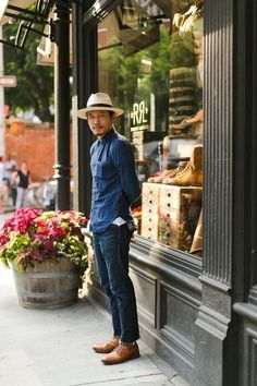 Street Style- outside the old Double RL shop in Lolita, New york City