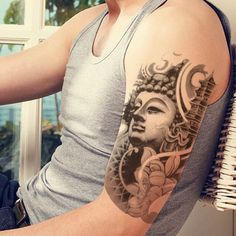 Temporary Waterproof Buddha Tattoo On Arm by Aliexpress.com