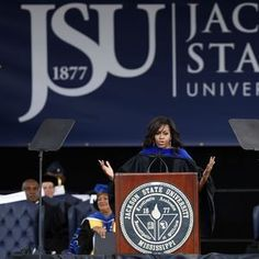 The commencement address had echoes of a similar speech Mrs. Obama gave last year, at Tuskegee University in Alabama, when she confessed that criticism of her — often drenched in racial stereotypes — often caused her sleepless nights.  Mrs. Obama's defense of her husband was in the context of a commencement address in which she told the 800 graduates that they, too, will face discrimination — in voting rights, criminal justice, education and housing — and have to make a choice of how to deal…