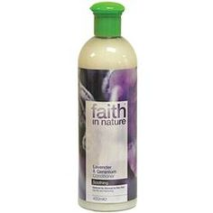 FAITH LAVENDER & GERANIUM CONDITIONER 400ml Natural Shampoo And Conditioner, Spa Night, Homeopathy, Geraniums, Herbal Remedies, Natural Health, Body Care, Vodka Bottle, Herbalism