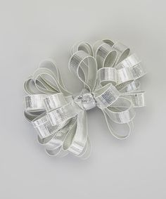 Take a look at this Silver Metallic Clip by Picture Perfect Hair Bows on #zulily today!