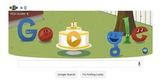 Google celebrates its 15th Birthday with a Doodle