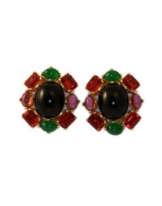 Vintage Ciner Cabochon Earrings by TheRoamingEclectic on Etsy, $35.00