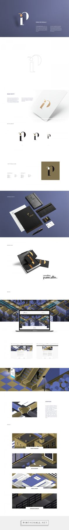 Consulting Pancallo on Behance - Brand Identity Graphic Design Branding, Typography Design, Logo Branding, Logo Design, Logos, Corporate Identity, Visual Identity, Brand Identity, Adobe Animate