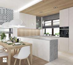 Salon z Sówką - Średnia otwarta jadalnia w kuchni, styl skandynawski - zdjęcie od ROOM STUDIO