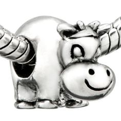 BESTSELLER! Pugster Cute Cow Beads Fit Pandora Chamilia Biagi Charms Bracelet $9.29