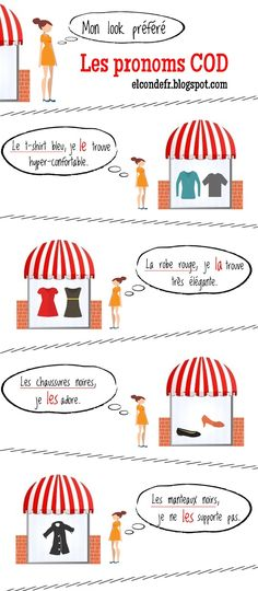 My favorite look | El Conde. fr: Comment utiliser les pronoms complément d'objet direct
