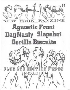Hardcore hxc sxe bands gorilla biscuits agnostic front dag nasty. Music X, Music Flyer, Music Is Life, X Project, New Flyer, Metal Magazine, Concert Posters, Growing Up, Nostalgia
