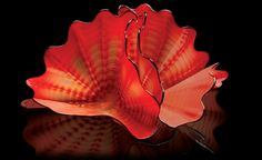 Red Amber Persian Pair Studio Edition from Chihuly Workshop