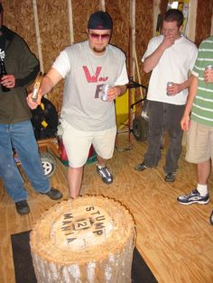 stump-game-nails or hammer and nail, super fun played last summer while camping