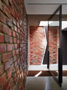 Jolson Converts Red-brick Mechanics Workshop into the House of Bricks. Architecture Details, Interior Architecture, Brick Saw, Rest House, Rustic Fireplaces, Australian Architecture, Brick Facade, Victorian Terrace, Polished Concrete