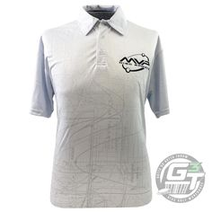 MVP Disc Sports Graph Sublimated Short Sleeve Performance Disc Golf Polo Shirt - L / White