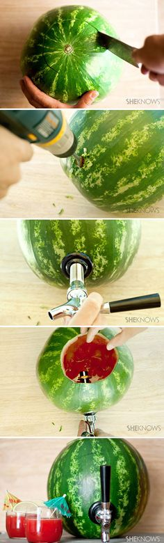Pool Day! How to Make a Watermelon Keg