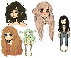 im sick so im posting these  all i draw are unhappy girls
