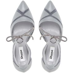 Dune Cosete Two Part Mesh Court Shoes, Grey Leather (14.465 HUF) ❤ liked on Polyvore featuring shoes, pumps, heels, high heels stilettos, leather shoes, high heel shoes, gray flat shoes and high heel pumps