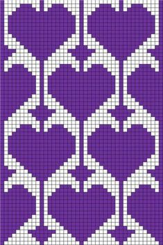 filet crochet or tapestry ♥ⓛⓞⓥⓔ♥ with heart motif Could use for stranded colorwork knitting Bonnet Crochet, C2c Crochet, Crochet Motifs, Crochet Diagram, Crochet Socks, Filet Crochet Charts, Free Crochet, Tapestry Crochet Patterns, Bead Loom Patterns