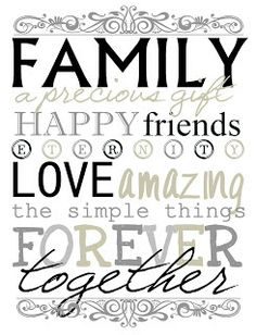 The {colored} Married Life: Family - Free Printable