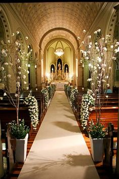 Decoração para Cerimônia de Casamento na Igreja | E Viva os Noivos
