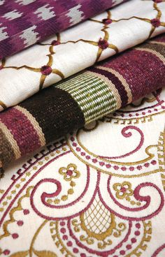 Such rich & beautiful colors in the Highland Court Global Collection bu Duralee