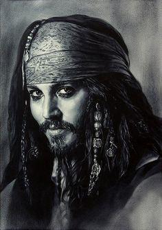Amazing Johnny Depp portrait, savvy?