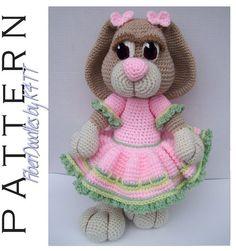 CROCHET PATTERN  Peeps the Amigurumi Bunny by FiberDoodlesbyK4TT, $6.20