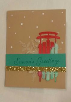 Stampin' Up! demonstrator Katie C's project showing a fun alternate use for the Watercolor Winter Simply Created Card Kit.